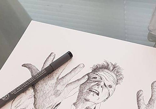 Drawing David Bowie