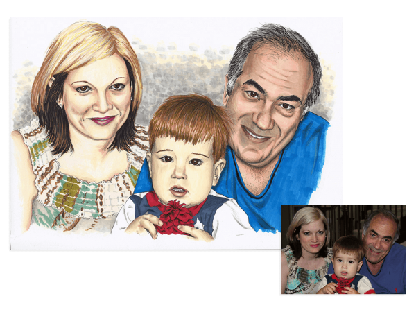 Colour ink family portrait