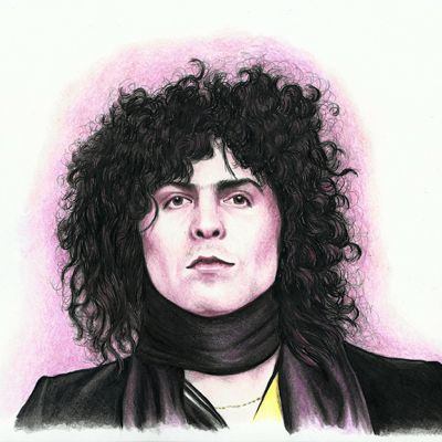 Colour portrait of Marc Bolan