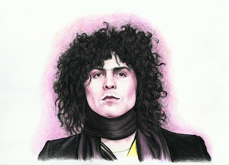 Colour portrait of Marc Bolan
