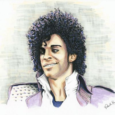 Prince colour ink portrait