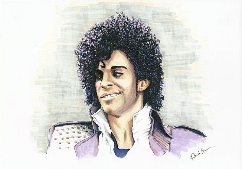 Prince colour ink portrait